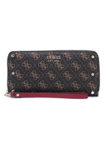 Dámske  Aline Large Peňaženka Guess -  hnedá