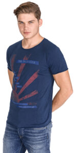 Pánske  Tričko Tom Tailor Denim -  modrá