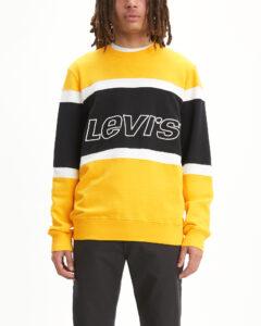 Pánske  Pieced Mikina Levi's -  čierna žltá