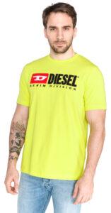 Pánske  Just Division Tričko Diesel -  žltá