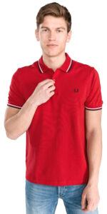 Pánske  Polo tričko Fred Perry -  červená
