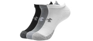 Pánske  HeatGear® Ponožky 3 páry Under Armour -  čierna biela šedá