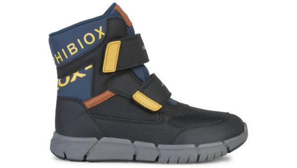 Chlapčenské  Flexyper Snehule detské Geox -  čierna viacfarebná