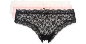 Dámske  Nohavičky 3 ks Guess -  čierna ružová béžová