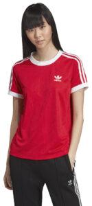 Dámske  3-Stripes Tričko adidas Originals -  červená