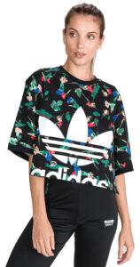Dámske  Allover Tričko adidas Originals -  čierna viacfarebná