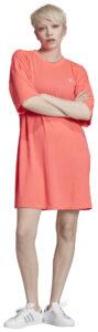 Dámske  Trefoil Šaty adidas Originals -  ružová béžová