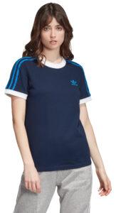 Dámske  3-Stripes Tričko adidas Originals -  modrá