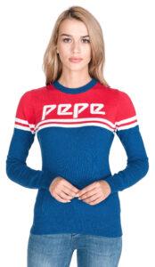Dámske  Olimpic Sveter Pepe Jeans -  modrá červená
