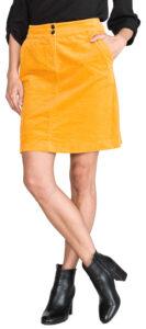 Dámske  Sukňa Tom Tailor -  žltá oranžová