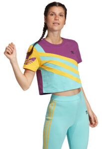 Dámske  Trefoil Plus Tričko adidas Originals -  modrá fialová