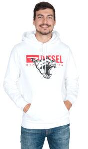 Pánske  S-Gir-Hood-BX1 Mikina Diesel -  biela