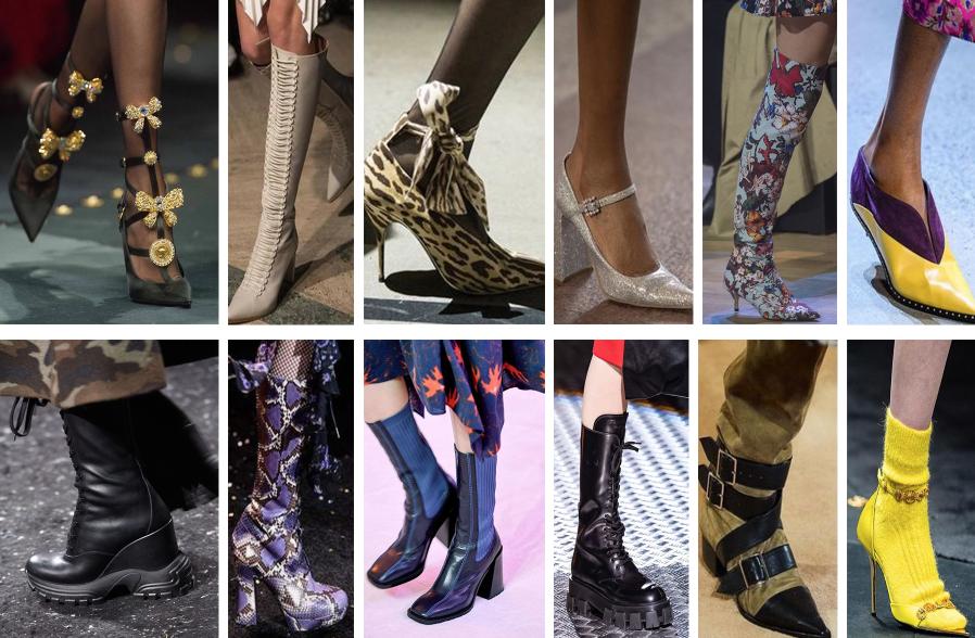 Ukážka trendov topánok pre jeseň 2019.