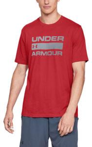 Pánske  Team Issue Wordmark Tričko Under Armour -  červená