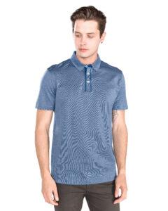 Pánske  Press 37 Polo tričko BOSS Hugo Boss -  modrá