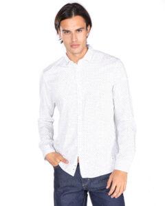 Pánske  Košeľa Tom Tailor Denim -  biela