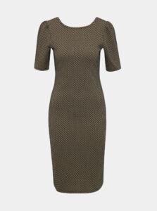 Čierno-hnedé vzorované púzdrové šaty Dorothy Perkins