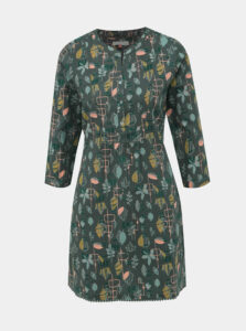 Tmavozelené vzorované šaty Brakeburn