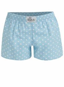 Svetlomodré dámske bodkované trenírky El.Ka Underwear