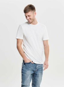 Krémové basic tričko ONLY & SONS Albert