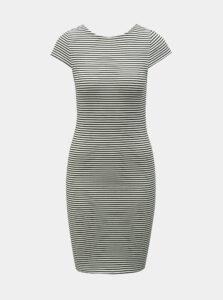 Čierno–biele pruhované puzdrové basic šaty ONLY Pablo