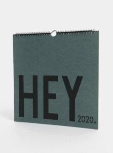 Zelený plánovací kalendár so samolepkami Design Letters 2020