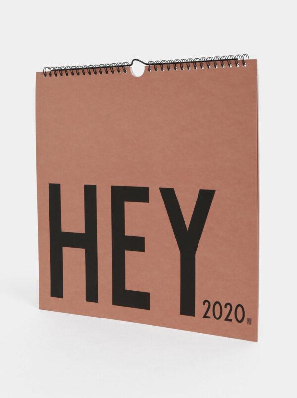Staroružový plánovací kalendár so samolepkami Design Letters 2020