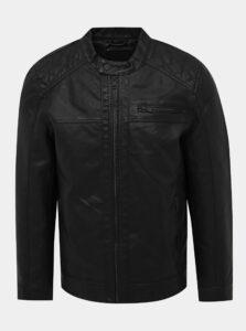 Čierna koženková bunda ONLY & SONS Sal