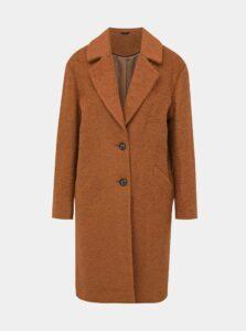 Hnedý vlnený kabát M&Co