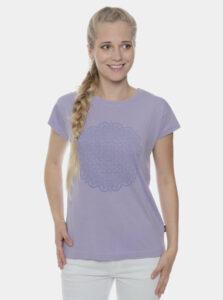 Svetlofialové dámske tričko s potlačou SAM 73