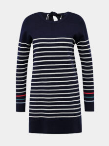 Tmavomodrý dlhý pruhovaný sveter Tom Joule Estelle