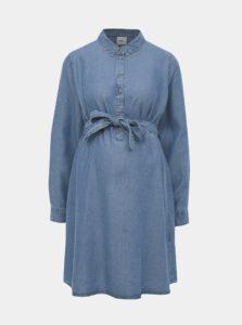 Modré tehotenské šaty Mama.licious Lydie