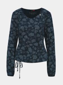 Tmavomodré kvetované tričko Ragwear Brisha