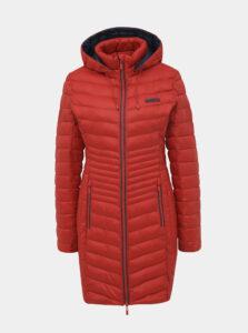 Červený dámsky zimný prešívaný vodeodpudivý kabát LOAP Jessika