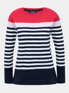 Tmavomodrý pruhovaný sveter Tom Joule