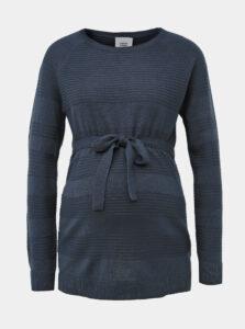 Modrý tehotenský pruhovaný sveter Mama.licious Paula