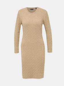 Béžové svetrové šaty GANT