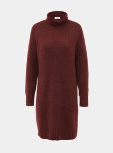 Hnedé svetrové šaty s rolákom Jacqueline de Yong Debbie
