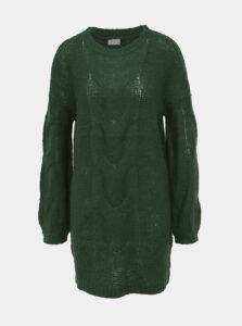 Tmavozelený dlhý sveter VILA