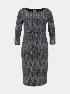 Tmavomodré púzdrové tehotenské šaty Mama.licious Ditte