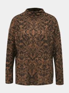 Hnedý ľahký sveter s hadím vzorom VILA Luno