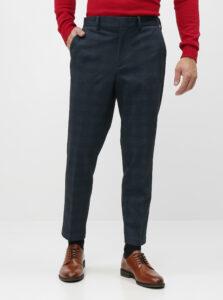 Modré skrátené slim fit nohavice Selected Homme New Jersey