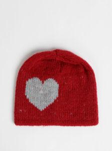 Červená dámska čapica s prímesou vlny Maloja Annotta