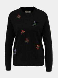 Čierny dámsky kvetovaný vlnený sveter Maloja Chatrin