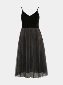 Černo-hnedé trblietavé šaty Dorothy Perkins