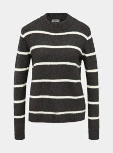 Tmavošedý pruhovaný sveter Jacqueline de Yong Blake