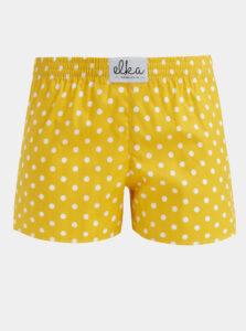 Žlté dámske bodkované trenýrky El.Ka Underwear