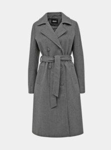 Šedý dámsky kabát s prímesou vlny ZOOT