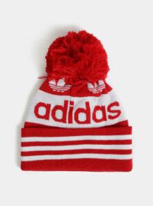 Bielo-červená čapica s bambuľou adidas Originals Jacquard