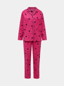 Rúžové vzorované dvojdielne pyžamo M&Co